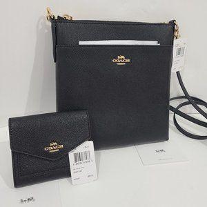 COACH SET: Kitt Messenger Crossbody + Small Wallet
